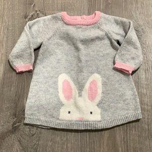 Gymboree Bunny Baby Sweater Dress
